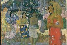 Paul Gauguin / Eugène Henri Paul Gauguin (París, 7 de junio de 1848 - Atuona, Islas Marquesas, 9 de mayo de 1903) fue un pintor postimpresionista, desarrolló la parte más distintiva de su producción en el Caribe (Martinica) y en Oceanía (Polinesia Francesa), volcándose mayormente en paisajes y desnudos muy audaces para la época por su rusticidad y colorido rotundo, opuestos a la pintura burguesa y esteticista predominante en la cultura occidental.