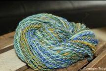 Laine filé à la main à la Boutique...our Handspun wool / Laine filé à la main à la  Boutique Commun-Tricot, St-Hyacinthe,  Quebec Canada J2s 3J2  450-250-5246