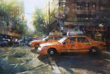 Mark Lague / Mark Lague paintings exhibited at Brazier Gallery