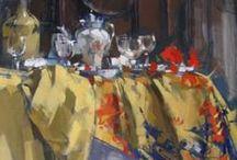 Maggie Siner / Maggie Siner paintings exhibited at Brazier Gallery