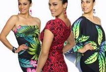 Tropical Fashion - Island Look / island outfits, dresses, cockteil dresses, sexy outfits, Aloha fashion, rochii de vara, tropical mood