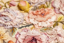 Silk embroidered fabrics / by Frankie