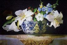 Silk Embroidery Painting