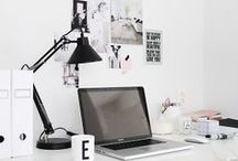 Workspace inspiration / Inspiration to decorate a personal workspace or studio.