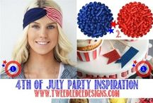 4th of July Party / 4th of July Inspiration #4thofjuly #partyinspiration #entertaining #celebrate #July4th / by Brandi - Tweedle Dee Designs