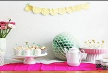 Party inspiration / Inspiration for a great party. Whether it's a birthday or a garden party.
