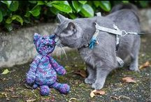"""""""Edward's Menagerie"""" by Kerry Lord /  crochet animals"""