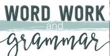 Word Work and Grammar / Ways to implement Words their Way and other word study focuses