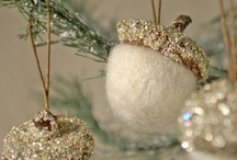 Christmas Natural/Neutral / STYLING includes  natural, simple styles of whites, silvers, glass, pewter, organic touches from nature. Clean, simple, quiet designs.