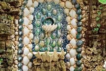 SHELL ART..CRAFT / All forms of shell art and craft, both contemporary and vintage/antiques.  Shell encrusted furniture,objects, mirrors, grottos, houses/cottages, sailor valentines, collage.  All types of shell art/craft collections.