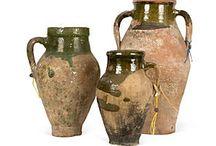 Ceramics:greens&earth tones