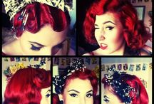 Vintage/Rockabilly Updo's / Vintage, rockabilly, and braids I love pinning these hairstyles, been practicing on my hair and can't wait to show off what I have learned from pinning all these awesome hairstyles.