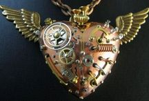 steam punk / jewelry made from watch parts  / by Frances Sergeant