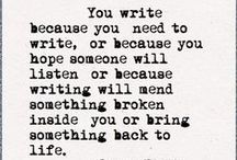 Writing / by H. S. Moore