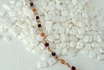 Swarovski birthstone jewelry / Handmade Swarovski crystal and wire birthstone jewelry. Find your Swarovski birthstone or create your own mix at handmadebirthstonejewelry.com / by Nicolette Tallmadge | Handmade Jewelry
