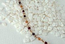 Swarovski birthstone jewelry / Handmade Swarovski crystal and wire birthstone jewelry. Find your Swarovski birthstone or create your own mix at handmadebirthstonejewelry.com / by Nicolette Tallmadge | Handmade Jewelry
