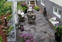 Oleskelua / Terraces & patios / Terasseja, patioita, kansipihoja. Oleskelua pihassa ja puutarhassa. Paikkoja, jossa viihdytään ja nautitaan ympäröivän pihan kauneudesta.