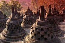 Trésor de Bali / Place à l'exotisme, aux couleurs chaudes et ambrées et dorées...