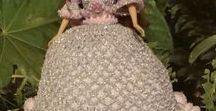 Barbie v háčkovaných šatech / háčkování, panenky, barbie, šaty pro barbie