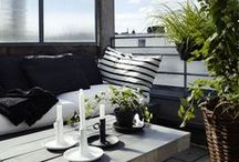 AM BALKON / How to decorate your (small) Balcony. Wie man das beste aus seinem (kleinen) Balkon herausholen kann.