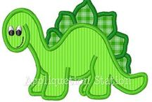 Dinosaurpatterns / shapes for applique to make quilts.