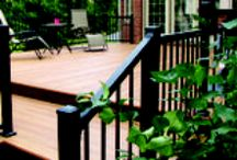 Palisade Railing / Ideal railing for garden decking projects.  Low maintenance, weather-resistant, powder coated aluminium railing.