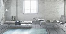 Poul Kjærholm goes canvas I Republic of Fritz Hansen / For the first time, Fritz Hansen now introduces the PK80 daybed, the PK33 stool and the PK91 folding stool in canvas.