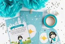 Jazmín party ideas / Imprimible para invitación - cumpleaños princesa Jazmín, invitación, etiquetas y sobre