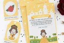 Fiesta - Bella / Imprimible para invitación - cumpleaños princesa bella, invitación, etiquetas y sobre