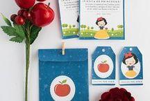 Imprimible - invitación Blancanieves / Imprimible para invitación - cumpleaños Blancanieves, invitación, etiquetas y sobre