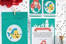 Ideas cumpleaños la sirenita / Invitación la sirenita, kit de invitación, etiquetas y sobres - imprimibles