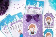 Party - anna frozen / Imprimible kit de invitación Anna - frozen, invitaciones, etiquetas y sobre