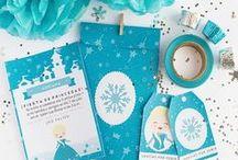 Party - Frozen Elsa / Imprimible kit de invitación Elsa - frozen, invitaciones, etiquetas y sobre
