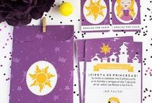 Fiesta - Rapunzel / Imprimible kit de invitación Rapunzel, invitaciones, etiquetas y sobre