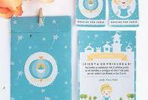 Ideas cumpleaños la Cenicienta / Imprimible kit de invitación Cenicienta, invitaciones, etiquetas y sobre