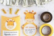 Invitaciones para baby shower / imprimible baby shower, invitacion , cajita, kit, jirafa