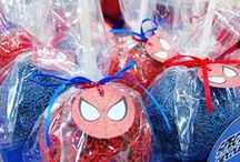 Ideas fiesta spiderman / Imprimible kit de invitaciones superhéroe, invitación, etiquetas y sobre - spiderman