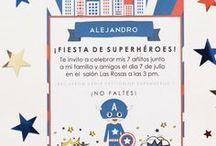 Imprimible - Capitán América - Superhéroe / Imprimible kit de invitaciones superhéroe, invitación, etiquetas y sobre - Capitán América