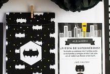 Fiesta Batman / Imprimible kit de invitaciones superhéroe, invitación, etiquetas y sobre - Batman