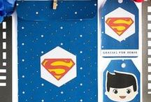 Ideas fiesta superman / Imprimible kit de invitaciones superhéroe, invitación, etiquetas y sobre - Superman