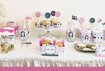 imprimible kit de decoración primera comunión niña / imprimible kit de decoración primera comunión - niña rosado