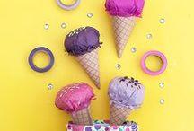 DIY helados de papel