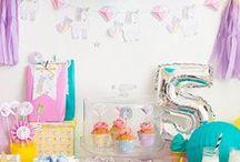 Fiesta de unicornios - unicorns party / Imprimibles para fiestas magicas, ideales cumpleaños, baby shower, primer añito...
