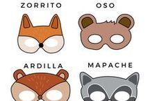 Máscara animales del bosque - Woodland animal masks freebie