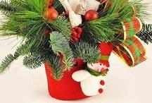 Aranjamente florale de Craciun pentru birouri