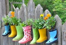 Recycled: Garden / Growing in awesome recycled things!
