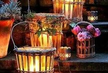 Set The Mood / Ideas for garden and patio lighting