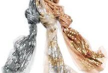Holiday Sparkle / #Holiday #scarf styles from the #collection #accessories #ElizabethGillett #scarves #NewYork, #designer #watercolor #fashion #accessories #cashmere http//: www.elizabethgillett.com instagram: @elizabethgillett facebook: https://www.facebook.com/elizabethgillettnyc/