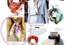 Press / #ElizabethGillett Editorial Coverage #press #magazines press and coverage #ElizabethGillett #scarves #NewYork, #designer #watercolor #fashion #accessories #cashmere http//: www.elizabethgillett.com instagram @elizabethgillett
