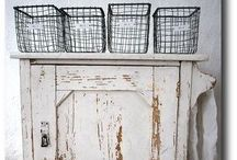 Wire Baskets / Not sure why but I sure do love wire baskets of ALL kinds. Old to new, rusted to painted.